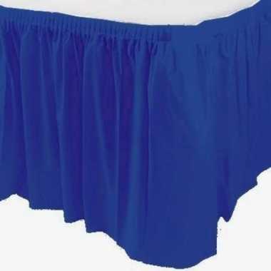 Tafelkleed randen blauw