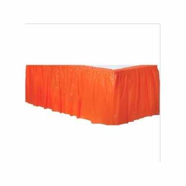 Tafelkleed randen oranje