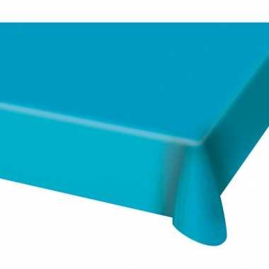 Tafelkleed van plastic blauw 130 x 180 cm