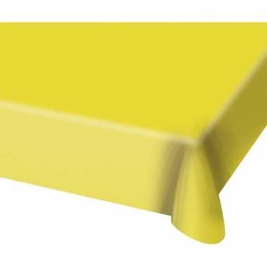 Tafelkleed van plastic geel 130 x 180 cm