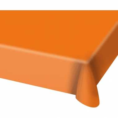 Tafelkleed van plastic oranje 130 x 180 cm
