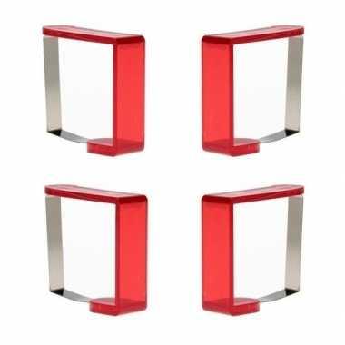 Tafelkleedklemmen rood 16x stuks