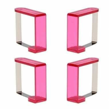 Tafelkleedklemmen roze 12x stuks