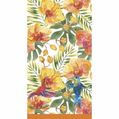 Tropisch hawaiiaans tafelkleed tafellaken 138 x 220 cm van papier met plastic laagje