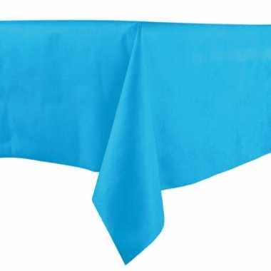 Turquoise blauwe tafelkleden 140 x 240 cm