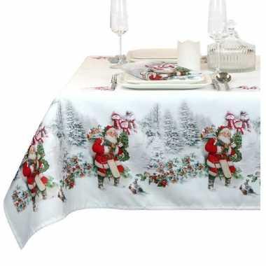 Vinyl tafelkleed/tafellaken/tafelzeil in kerst thema met rendieren 140 x 250 cm