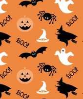 20x halloween horror oranje servetten met figuren print 33 x 33 cm