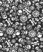 2x horror tafelkleden met doodskoppen 180 cm
