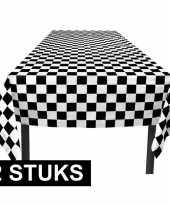 2x race thema tafelkleden 130 x 180 cm