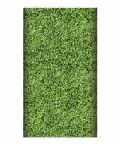 2x voetbal tafelkleed grasmat 180 cm