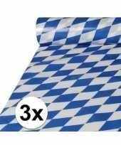 3x plastic beieren tafelkleden 20 meter