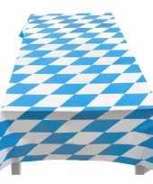 8x blauw met wit tafelkleed 130 x 180 cm