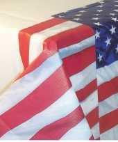 Amerikaanse versiering tafelkleed van papier 137 x 259 cm