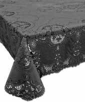 Antraciet grijs tuin tafellaken voor buiten 137 x 180 cm rechthoekig van kunststof