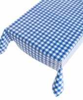 Blauwe ruit tafellaken 140 x 240 cm