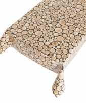 Boomstammen tafellaken motief 140 x 240 cm