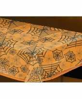 Feestartikelen plastic tafelkleed spinnenweb 137 x 243 cm
