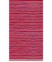Gestreept tafelkleed tafellaken rood en wit 138 x 220 cm van papier