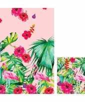 Hawaii thema feest servetjes en tafelkleed