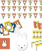 Nijntje kinderverjaardag thema pakket voor 16 personen
