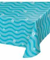 Oceaan zee themafeest tafelkleed blauw 259 x 137 cm
