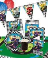 Race formule 1 kinderfeestje feestartikelen pakket voor 8 personen