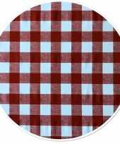 Rood tuin tafellaken voor buiten ruitjes print 160 cm pvc kunststof