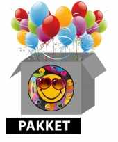 Smiley themafeest pakket