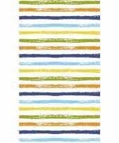 Strepen print tafelkleed tafellaken gekleurd 120 x 180 cm van papier