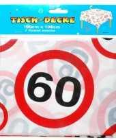 Tafelkleed 60 jaar verkeersborden 1 meter