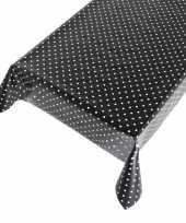 Tafelzeil polkadot zwart 140 x 170 cm