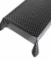 Tafelzeil polkadot zwart 140 x 240 cm