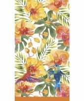 Tropisch hawaii tafelkleed tafellaken 138 x 220 cm van papier met plastic laagje
