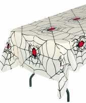 Wit halloween tafelkleed 135x270cm