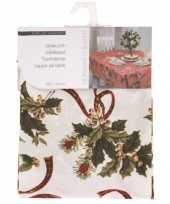 Wit tafelkleed met hulsttakken 130 cm